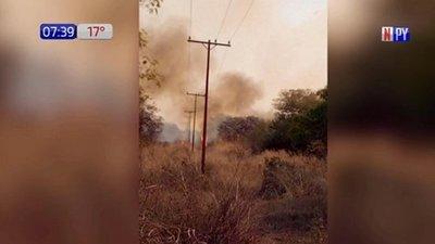Incendio forestal en Alto Paraguay deja sin luz y agua a 15.000 personas
