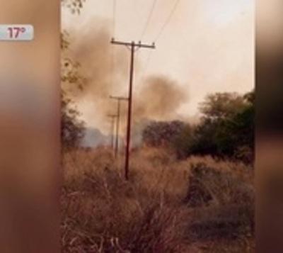 Incendio forestal deja sin luz y agua a varios distritos en el Chaco