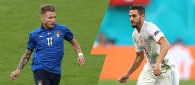 Las «renacidas» Italia y España van por definir al primer finalista de la Eurocopa