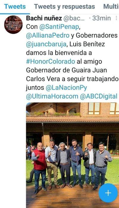 Gobernador de Guairá se sumó al cartismo
