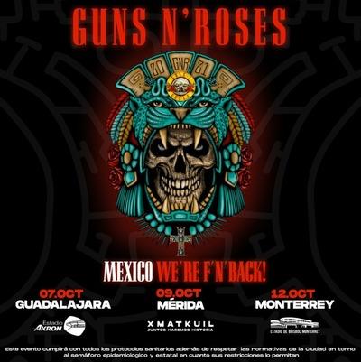 Guns N'Roses anunció tres conciertos en México