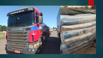Incautan 40 mil kilos de cemento ingresados de contrabando