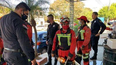Bomberos de Capiatá recuperan equipo hidráulico hurtado