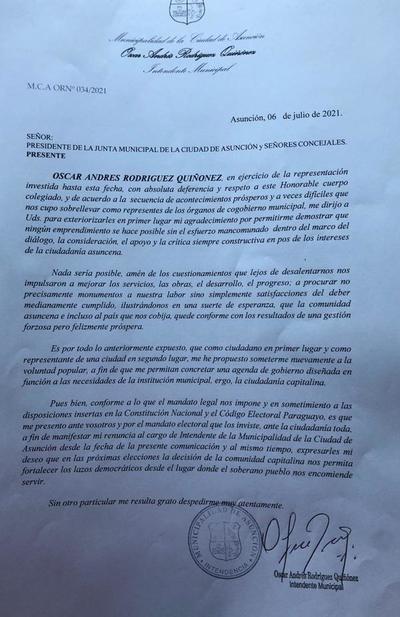 Este miércoles concejales eligen nuevo intendente de Asunción tras renuncia de Nenecho