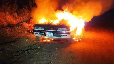 En Ponta Porã hallan incendiado el auto utilizado en intento de asalto a funcionarios de Municipalidad