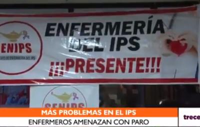 Disconformes con nuevo nombramiento, enfermeros del IPS amenazan con paro