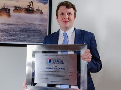 Pieter Jan de Nul fue destacado como el Dirigente de Empresa 2021