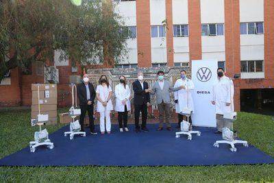 Diesa dona equipos de oxígeno al Hospital de Clínicas para lucha contra el COVID-19