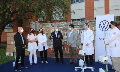 Diesa donó equipos de oxígeno al Hospital de Clínicas  para lucha contra el Covid-19