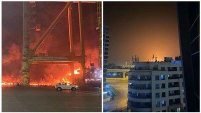 Fuerte explosión desató un incendio en el principal puerto de Dubai