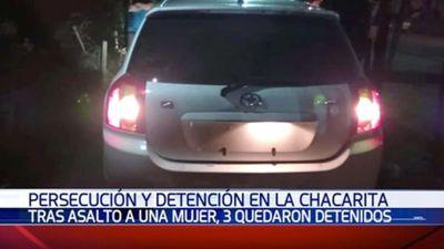 Tres adolescentes fueron detenidos tras persecución en Asunción