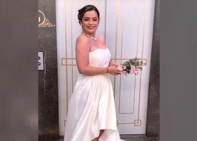 Crónica / ¡Mañami! Larissa Riquelme apareció con traje de novia