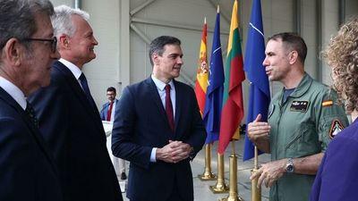 Una amenaza militar real atribuida a Rusia forzó a Pedro Sánchez y al presidente de Lituania a interrumpir una conferencia de prensa