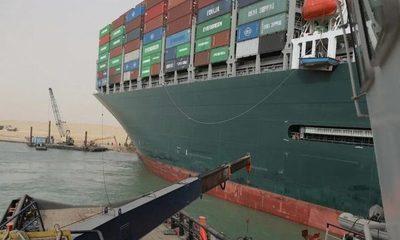 """Portacontenedores """"Ever Given"""" zarpa del Canal de Suez tras 100 días inmovilizado"""