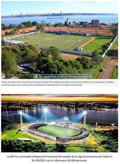 Yacyretá cumplió con obra aprobada para el estadio de la Liga Encarnacena
