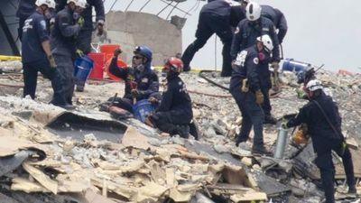 Derrumbe en Miami: ya no buscan más sobrevivientes entre los escombros del edificio