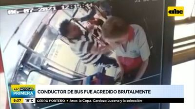 Conductor de bus fue brutalmente agredido