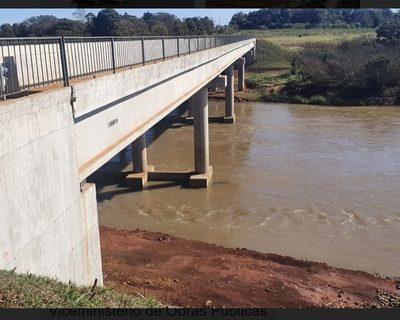 Habilitan puente de hormigón que une Minga Guazú con Cedrales