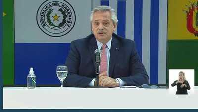 Presidente argentino afirmo que no se puede negociar fuera del bloque del Mercosur