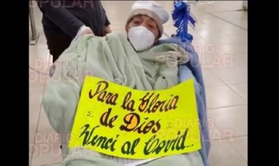 Abuela de 91 años logró zafar del coronavirus, tras un mes de intensa lucha