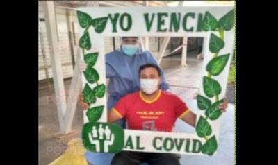 """""""Mediante Dios venció el Covid"""", afirman familiares de joven recuperado del virus chino"""