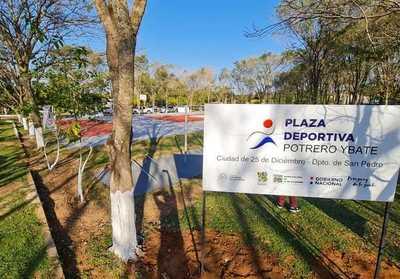 Compañía Potrero Yvate, en San Pedro, ya cuenta con su Plaza Deportiva