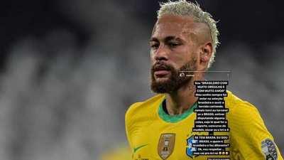 Neymar estalló contra los brasileños que hinchan por Messi y la Selección Argentina