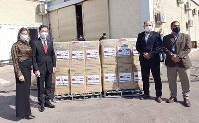 Cancillería recibe una donación de concentradores de oxígeno de parte de Taiwán