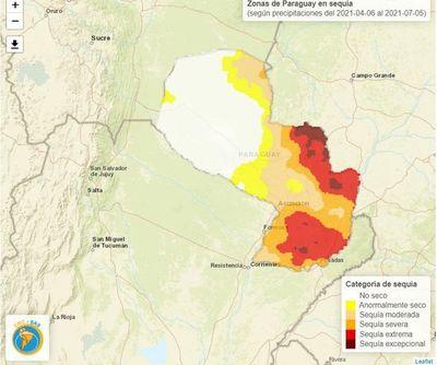 Aumentan focos de quema y la sequía ya golpea al 60% del territorio