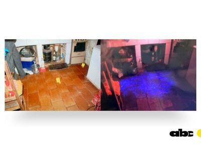 Peritos hallan manchas que serían de sangre en la cocina donde fue asesinada Analia Rodas
