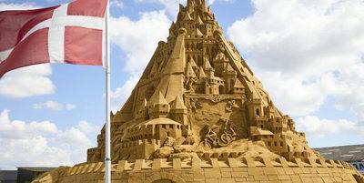 ¡Fenomenal! El castillo de arena que rompió record Guinness en Dinamarca