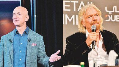 Multimillonarios Bezos y Branson están listos para viajar al espacio