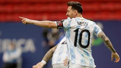 Messi lidera el equipo de la Albiceleste para la final