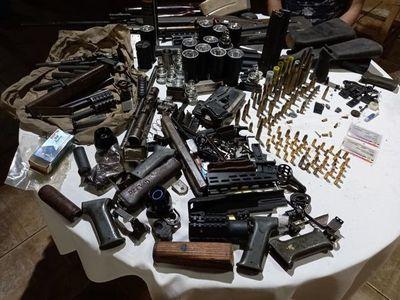 Pedro Juan Caballero: incautan munición y partes de armas durante allanamiento