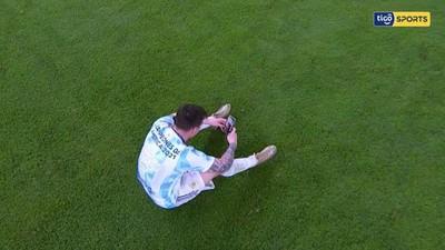 Messi comparte su alegría a través de videollamada