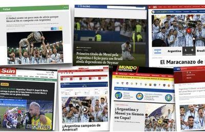 """Con el """"Maracanazo"""" y el objetivo cumplido de Messi en la Copa América: así vivieron la consagración de Argentina en el resto del mundo"""