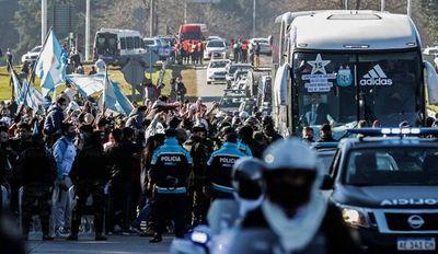 La Albiceleste está en Argentina tras su consagración