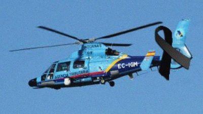Un helicóptero de Aduanas de España cae al mar mientras perseguía a una narcolancha
