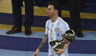 Messi dedicó el título de la Albiceleste a su familia, a los argentinos y a Maradona