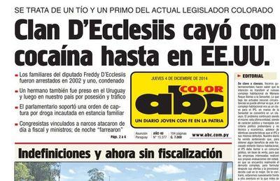 San Pedro renovará intendentes con disputa entre D'Ecclesiis y Giménez