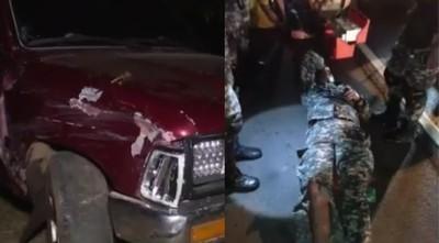 Camioneta entró en contramano y atropelló a agentes del Grupo Lince
