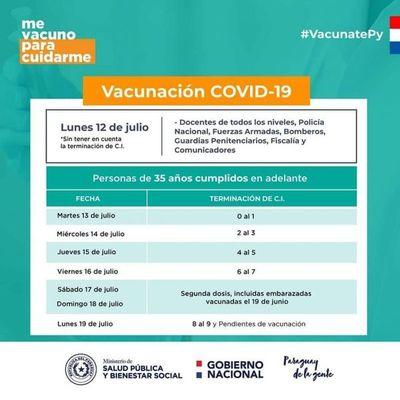 Mañana martes 13 se inicia vacunación en 3 centros vacunatorios