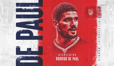 Rodrigo de Paul es nuevo jugador de Atlético de Madrid