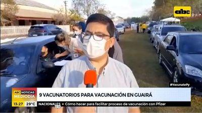 9 vacunatorios habilitados en Guairá