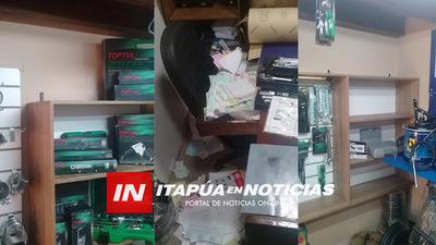 HURTAN EN UN TALLER MECÁNICO DE ENCARNACIÓN.