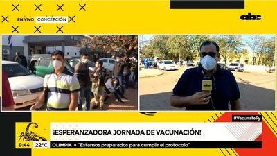 Esperanzadora jornada de vacunación en Concepción