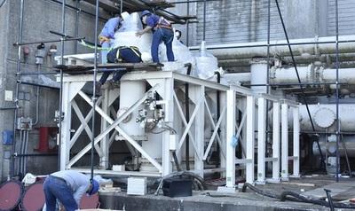 Iniciaron trabajos de montaje para adecuación de la Línea Paraguaya 1 en la Hidroeléctrica Yacyretá