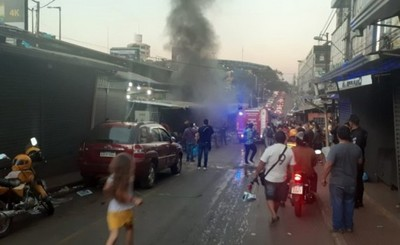 Incendio causa estragos en casilla céntrica