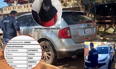 Dos detenidos y dos vehículos robados recuperados durante sendos procedimientos en Ciudad del Este – Diario TNPRESS