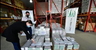 Yacyretá: entregan a Salud medicamentos para tratar casos severos de Covid-19